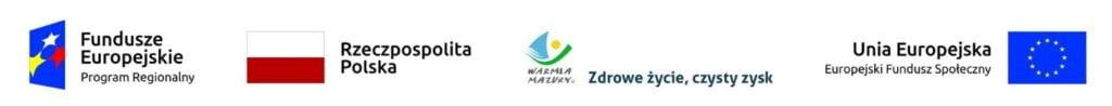 Logotypy Województwo Warmińsko mazurskie i UE (EFS)