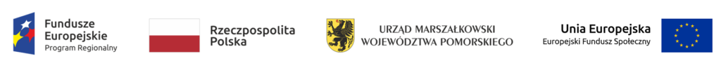 Logotypy EFS, RP, UM woj. Pomorskiego, UE